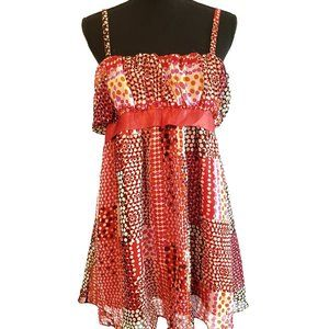 Tops - Light and flowy red v neck top size 16
